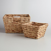 Natural Water Hyacinth Betty Baskets - World Market