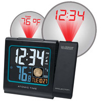 """Walmart: La Crosse Technology 5"""" Color LCD Projection Alarm Clock with Moon Phase, Black"""