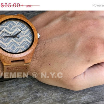 SALE Wood Watch. Mens Watch. Engrve Watch. Personalized Watch. Miami. Kavemen. Mens Watch. Mens Gift.