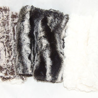Luxury Faux Fur, Fingerless Gloves