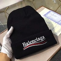 Balenciaga Women Beanies Knit Winter Hat Cap