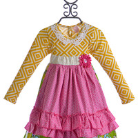 Giggle Moon Apron Dress in Glory Shines