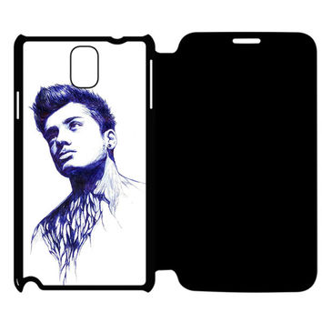 Zayn Malik Samsung Galaxy Note 4 Flip Case Cover