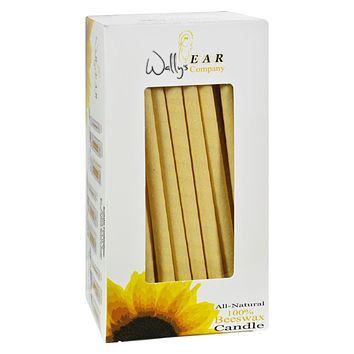 Wally's Natural Products 100% Beeswax Candles - Pack of 75