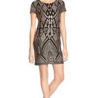 Jump Apparel Glitter Print Shift Dress | Nordstrom