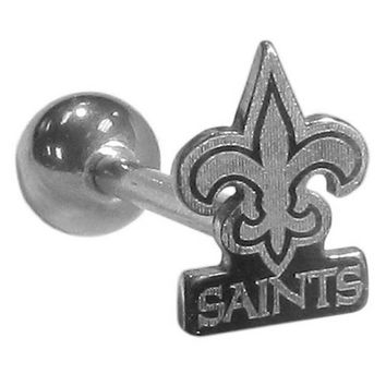 New Orleans Saints Barbell Tongue Ring FTSB150