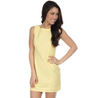 The Harper Solid Seersucker Dress in Yellow by Lauren James - FINAL SALE