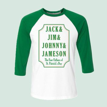 Jack, Jim, Johnny & Jameson Baseball Tee