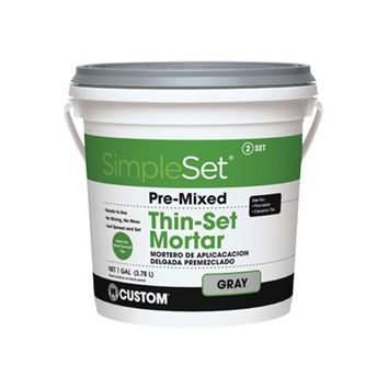 Custom Building Products SimpleSet Gray 1 Gal. Premixed Thin-Set Mortar-CTTSG1 - The Home Depot