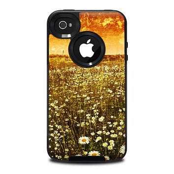 The Vintage Glowing Orange Field Skin for the iPhone 4-4s OtterBox Commuter Case