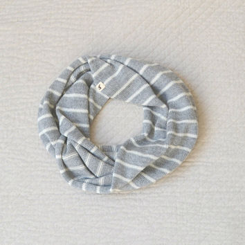 Baby Alpaca Wool Striped Infinity Scarf