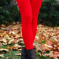 Legs for Days Leggings - Red - ONE SIZE FITS MOST / RED
