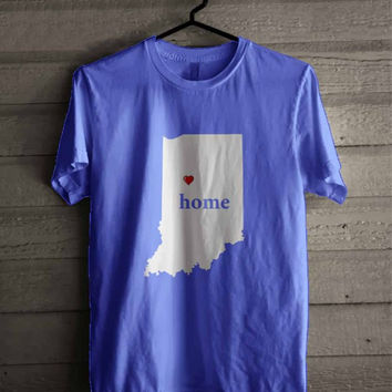 Indiana Love Home Map shirt for man and woman shirt / tshirt / custom shirt