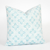 Nursery Cushion. Soft Pillow. 18 Inch Pillow Cover. Blue White Pillow. Nursery Decor Pillow. Bedroom Throw Pillow. Light Blue Throw Pillow