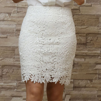 Crochet Lace Tight Outfit Mini Dress Skirts