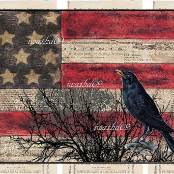 Printable flag instant download 300 dpi commercial use jpeg primitive guy gift digital download Americana art supply wall art home decor