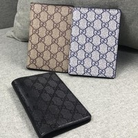 GUCCI Newest Popular Men Women Leather Purse Wallet Card Package