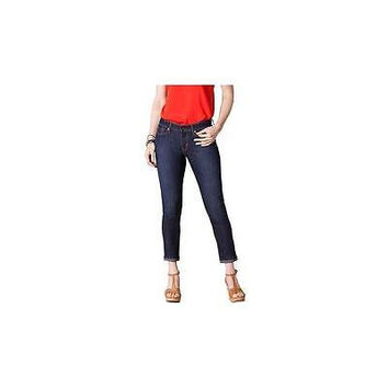 Signature By Levi Strauss Co. Women's Ankle Skinny Jeans, 10, Dark Wash