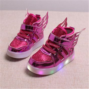Wings Track Sneakers  | Kids Light Up Shoes | LED Junior's