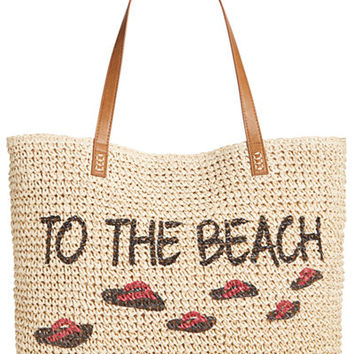 Style & Co To The Beach Straw Tote, Only at Macy's - Handbags & Accessories - Macy's