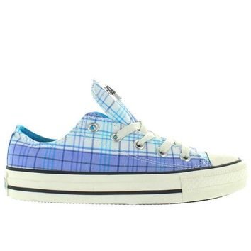 DCKL9 Converse All-Star Chuck Taylor Spectator Ox - Blue/White Allure Plaid Low-Top Sneaker