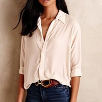 CP Shades Adra Buttondown in Ivory Size: