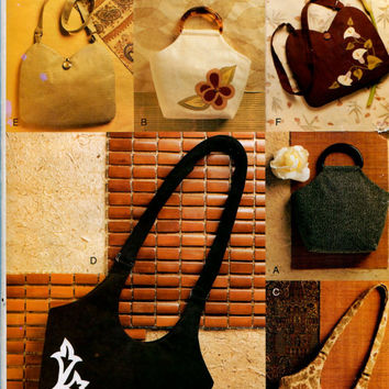 VOGUE HANDBAG PURSE Pattern Shoulder Bag Hand Bag with Applique Makes 6 Handbags Vogue 7812 634 Accessories Craft Sewing Patterns UNCuT