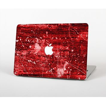 The Red Grunge Paint Splatter Skin for the Apple MacBook Air 13""