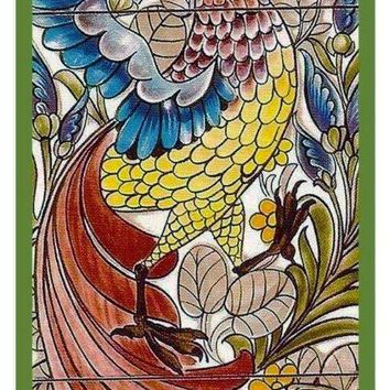 Neutral Peacock Design By William Morris Counted Cross Stitch or Counted Needlepoint Pattern