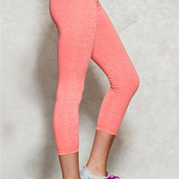 Coral Marled Workout Capri