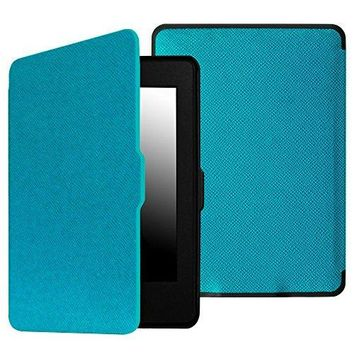 Fintie SmartShell Case for Kindle Paperwhite - The Thinnest and Lightest PU Leather Cover With Auto Sleep/Wake for All-New Amazon Kindle Paperwhite (Fits All 2012, 2013, 2015 and 2016 Versions), Blue