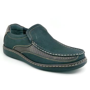 Men's Black and Coffee Casual Slip on Shoe