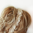Lace ıvory Pearl  Flowers Headband, Bridal Hair Accessories, Wedding Hair Accessories, Pearl Headband,  Bridal, Bridesmaid Headband