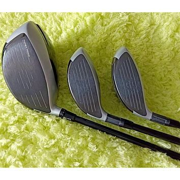 12PCS  Full Set Graphite Shaft Golf Clubs - Driver Fairway Woods Irons Putter Head Covers No Bag