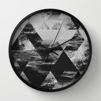 Abstract Sea Wall Clock by Cafelab