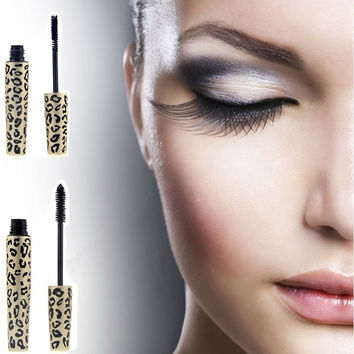 Leopard Waterproof Lengthening Extension Eyelash Eye Lash Transplanting Gel Fiber Mascara MAKEUP = 1705562180