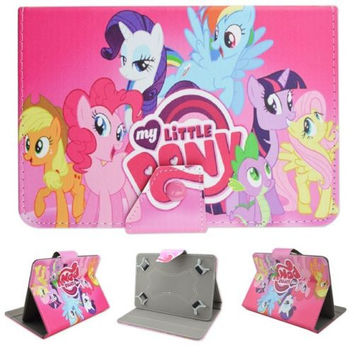 """Cute kids gifts Cartoon My Anime Unicorn Horse Leather Case Cover for Lenovo Tab 2 A7-30 7"""" Tablet PC+ Screen protector + Pen"""