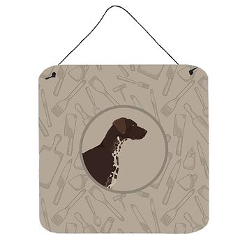 German Shorthaired Pointer In the Kitchen Wall or Door Hanging Prints CK2188DS66