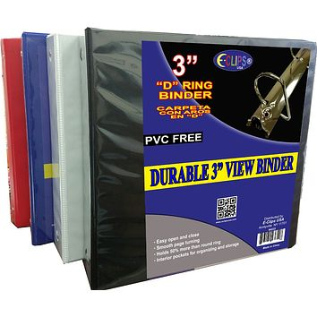 "Durable 3"""" View Binder Case Pack 8"