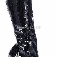 Glitter Knee Boots up to Size 12 (27.5 cm - EU 44)