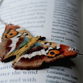 Large Purple Emperor Butterfly Necklace