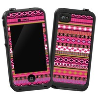 "Pink Geometric Tribal ""Protective Decal Skin"" for LifeProof iPhone 4/4s Case"
