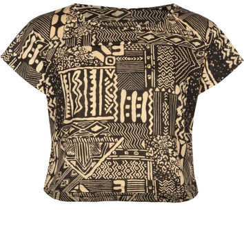 FULL TILT Ethnic Print Girls Crop Tee | Clothing