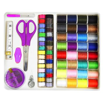 71Pcs Multifunctional Travel Sewing Kit Set Sewing Supplies Essential Tape Measure Needle Thread Seam Ripper kit de costura