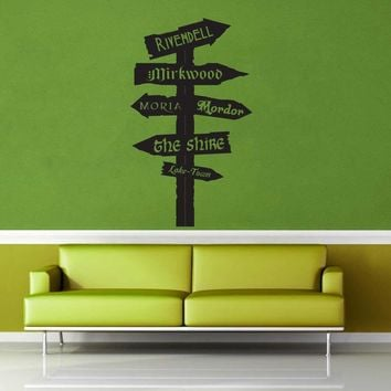 Tolkien Road Sign - Wall Decal - No 1$19.95