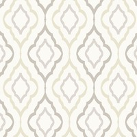 "Candice Olson Inspired Elegance Diva 27' x 27"" Geometric Wallpaper Roll"