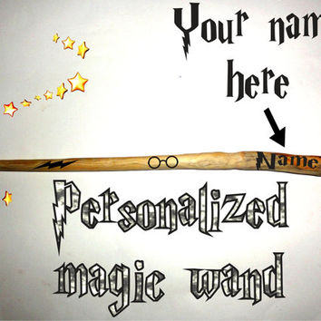 Harry Potter Cosplay Hogwarts Lord Wizard Magic Wand with Quiver. Wooden Magic Wand wizard/witch Harry Potter style. Custom name magic wand.