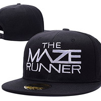 YUDUODUO The Maze Runner Logo Adjustable Snapback Embroidery Hats Caps - Black