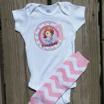 Sofia The First Onesuit or Shirt - Personalized Birthday Girl Outfit - Princess Sophia - Disney