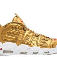 "AIR MORE UPTEMPO ""SUPREME"" METALLIC GOLD"